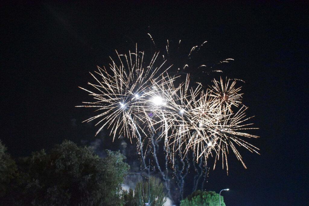 Fuegos artificiales de Las Ferias de San Mateo 2021